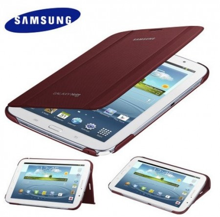 Orig. Book Flip Cover for Samsung Galaxy Note 8.0, Garnet Red