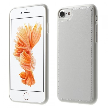 Leather Coated TPU Cover for Apple iPhone 7 (4.7¨), White