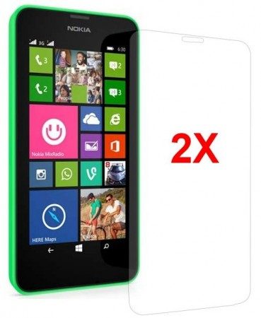Screen Protector for Nokia Lumia 630/635, 2pack