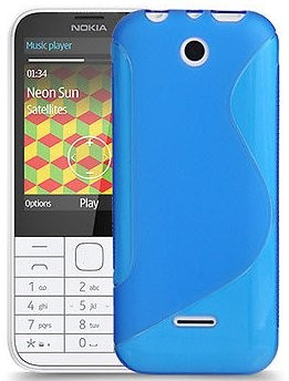Flexi Shield Skin Nokia 225, *S-line*,Blue