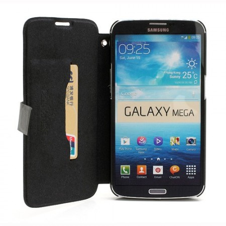 Doormoon Booklet Leather Flip Case Samsung Galaxy Mega 6.3 (i9205), Black