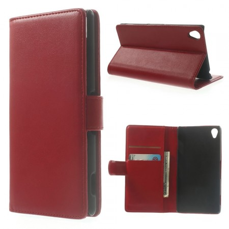 Booklet Flip PU Leather Case for Sony Xperia™ Z3 (D6603), Red