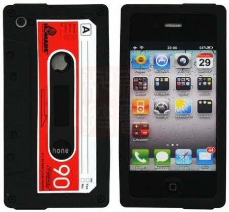 Silicon Skin Case for Apple iPhone 4, *Music Cassette*