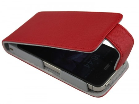 Doormoon Vertical Leather Flip Case Apple iPhone 4(S), Red