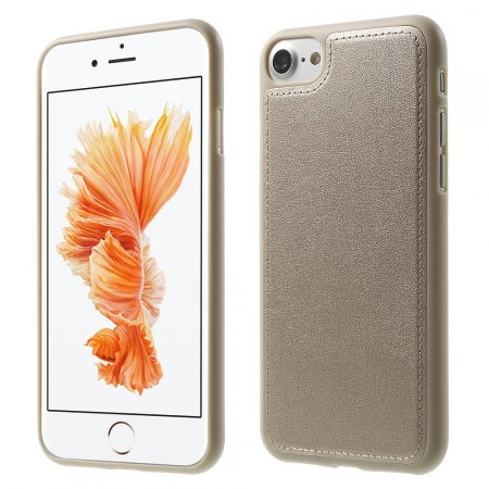 Leather Coated TPU Cover for Apple iPhone 7 (4.7¨), Gold