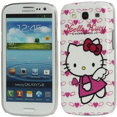 Hard Back Case Samsung Galaxy S III, *Hello Kitty*, Angel Heart