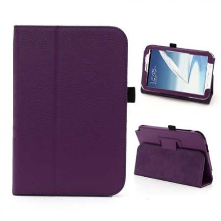 Booklet PU case for Samsung Galaxy Note 8.0, (N5100/N5110),Purple