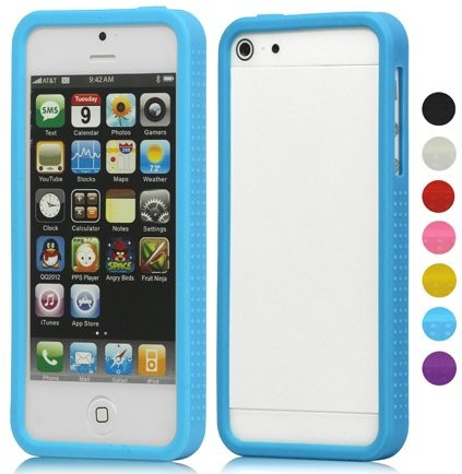 Silicon frame bumper for Apple iPhone SE/5/5s, *Rubber Solid*