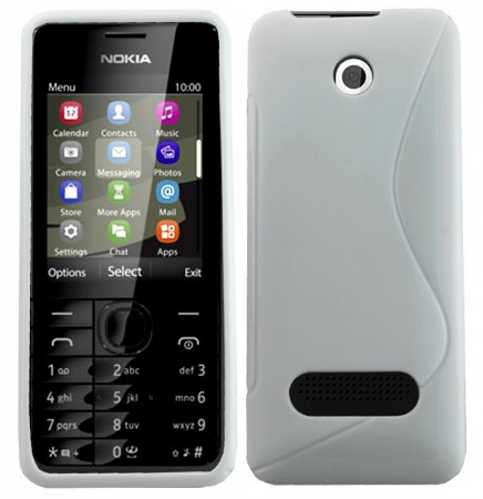 Flexi Shield Skin Nokia 301, *S-line*,White