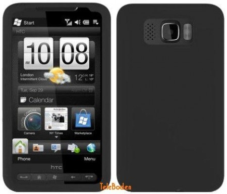 Silicon Skin Case for HTC HD2 (Leo), Black