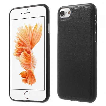 Leather Coated TPU Cover for Apple iPhone 7 (4.7¨), Black