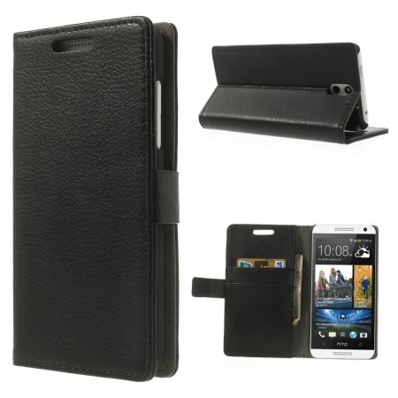 Wallet PU Leather Case for HTC Desire 610, Black