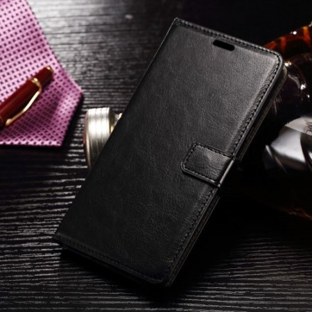 Wallet PU Leather Case for Samsung Galaxy Note 7, Black