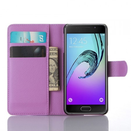Wallet PU Leather Case for Samsung Galaxy A3 (2016), Purple