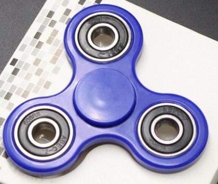 Fidget Spinner ¨TwinColor¨, Blue/Black