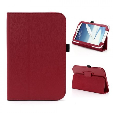 Booklet PU case for Samsung Galaxy Note 8.0, (N5100/N5110),Red