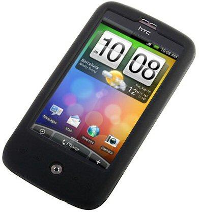 Silicon Skin Case for HTC Desire, Black