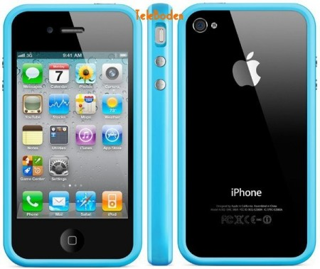 Bumber Frame Case for Apple iPhone 4S, *Solid*