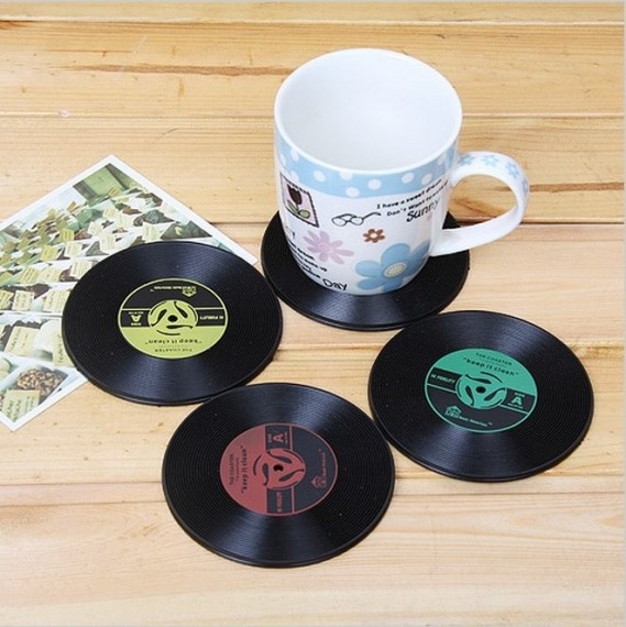 Record Coaster Retro Vinyl Record 7¨ single look